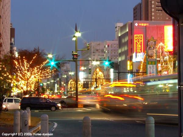 自転車の 岡山駅 西口 東口 自転車 : 岡山夜景06/12/15 - 夢写観「ゆめ ...