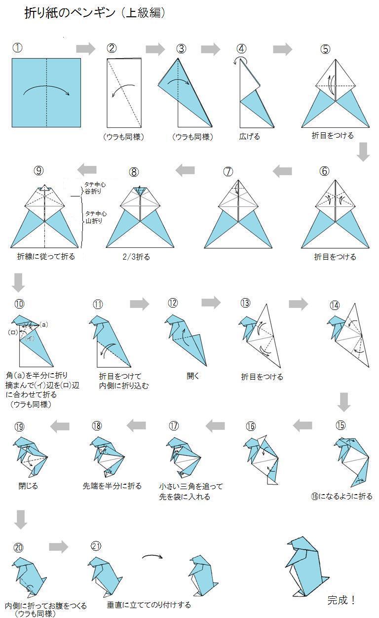 折り紙のペンギン - おもちゃ ... : お雛様の折り方 折り紙 : 折り方