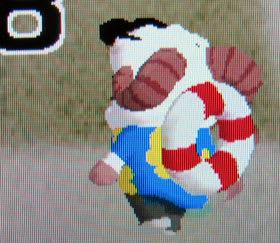 足下が白いことにも注目したい、ひつじのしつじくん