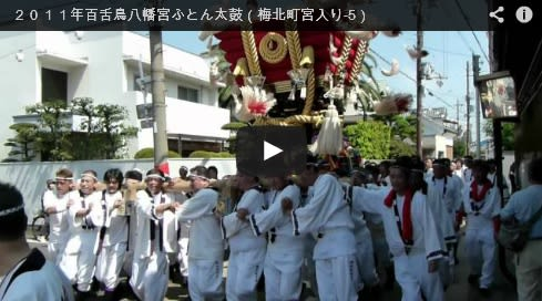 2011年百舌鳥八幡宮ふとん太鼓(本町宮入り-5)