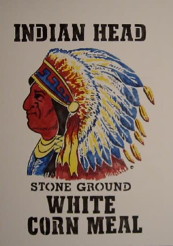 インディアン柄はステンシルの型に起こしやすいです。。 以前にもインディア... インディアンのス