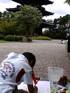 東寺の写生大会に来ています。