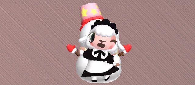 雪だるまを背にポーズを決める、メイドのメイちゃん