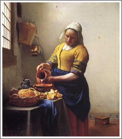 フェルメール(牛乳を注ぐ女)