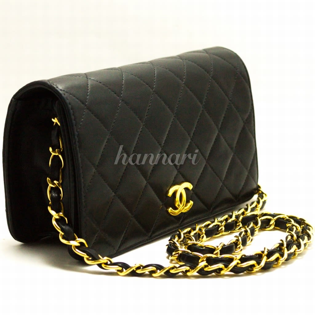 Zenith Quilted Shoulder Bag With Chain Black 92