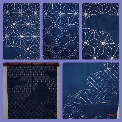刺子暖簾の完成 - 土からの恵み