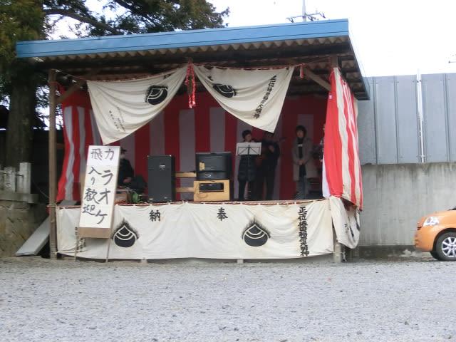 手作りの舞台