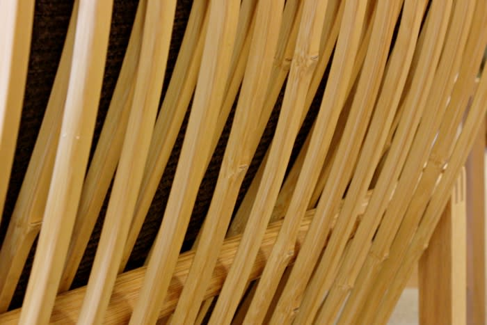 背面の竹のアップ