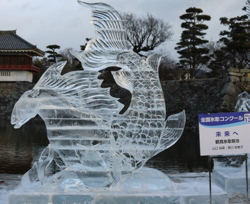 第25回国宝松本城氷彫フェスティバルの作品