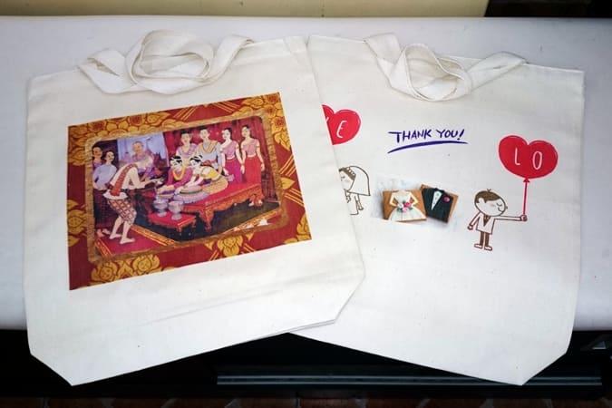 結婚式の招待状 2.引出物~オリジナルトートバッグ
