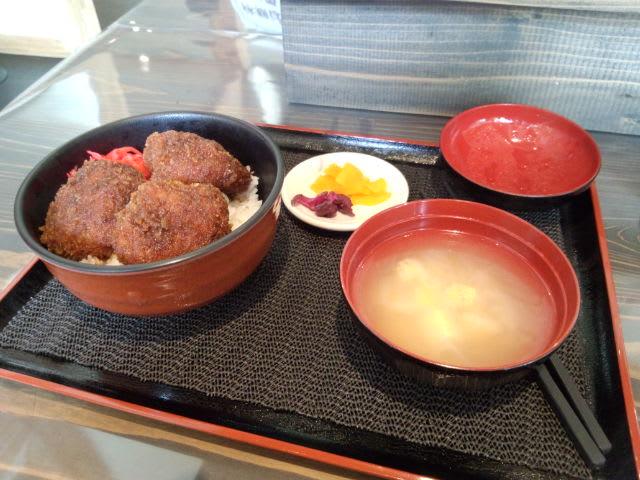 道の駅八ッ場のソースカツ丼はアチィッチ