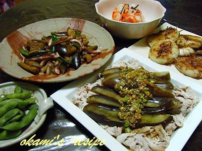 アイデア勝負夏野菜いっぱいの晩御飯