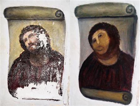 キリストの絵が「修復」で全く異なる姿に ツイッターではやゆする声も ス...  理想国家日本の条