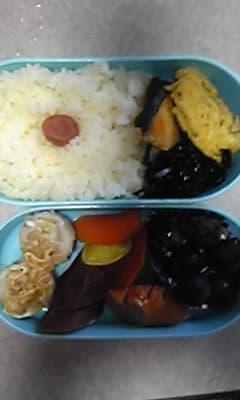 今日のお弁当(サツマイモの甘煮)