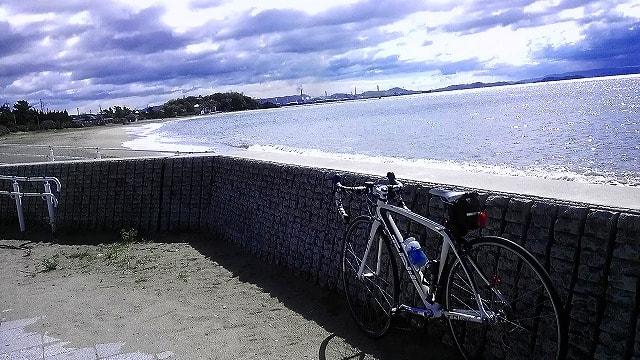 自転車の 自転車 変な音がする : 今日沙美海岸まで往復してきた ...