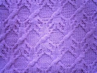 なんとなく雪の結晶のような?お花みたいな模様になりました もう春は近づ... 模様編みの手編みの