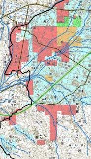 山梨県の液状化マップ
