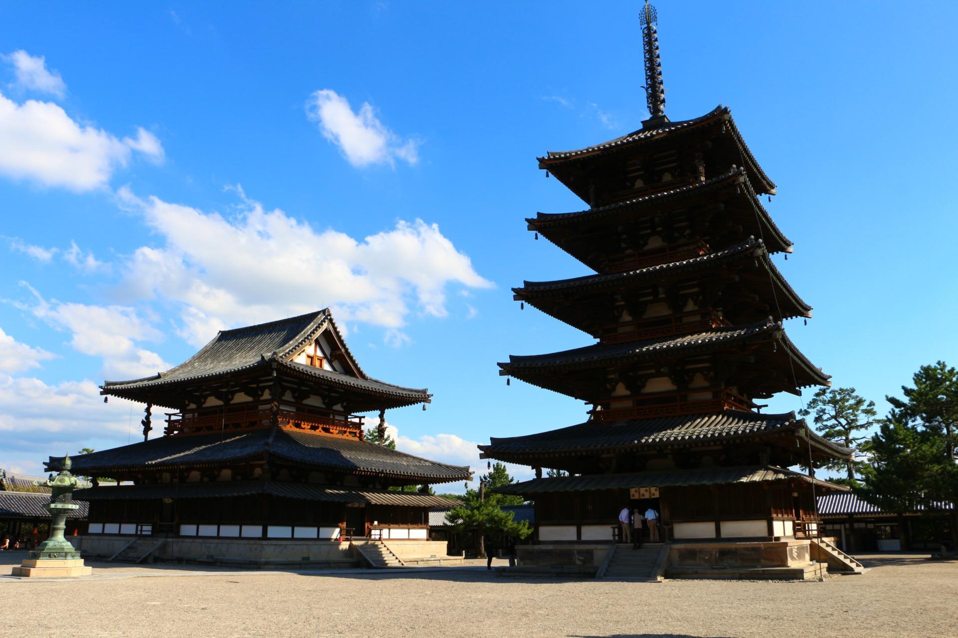 奈良 斑鳩の里 法隆寺をぶらぶら - 亀の子たわしの街ブラ大好き!