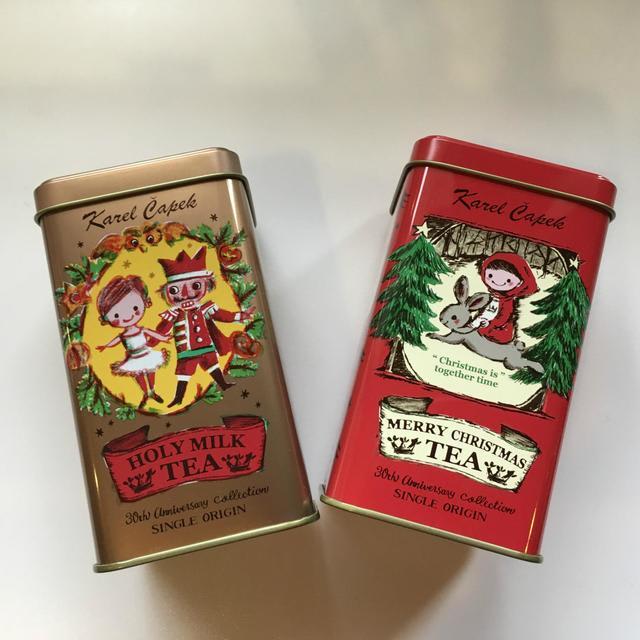 右・メリークリスマスティー 缶 1.5*8p