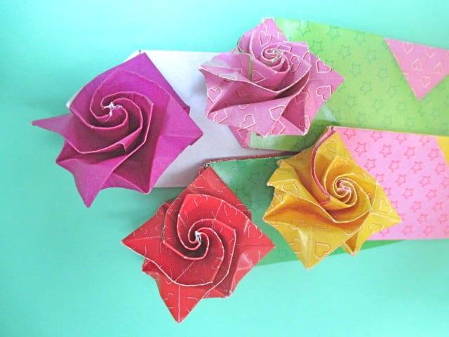 すべての折り紙 折り紙 折り方 バラ : 創作折り紙の折り方・・・動画