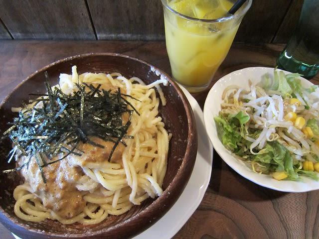 たらこ+納豆スパゲティ