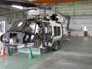 SH-60J整備教材(左舷側面)