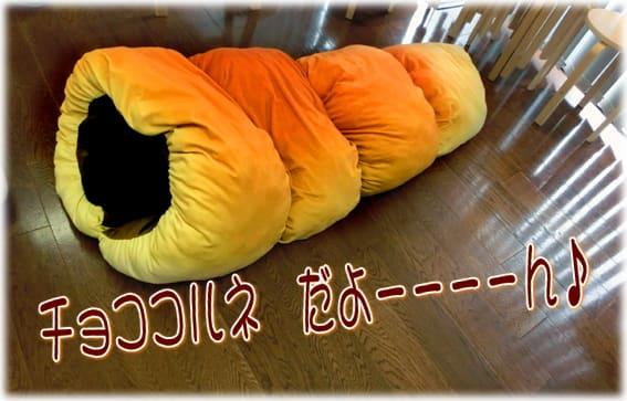 パンに包まれてみたいアナタに!フェリシモ「ふんわりビッグパンクッション」チョココルネになろう~