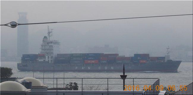 関門海峡 窓から スナップ
