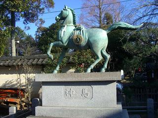 立木神社の神馬(しんめ)