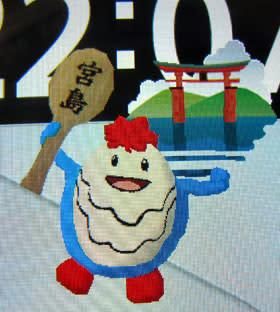 広島県「ブンカッキー」。しゃもじを手に安芸の宮島をPR