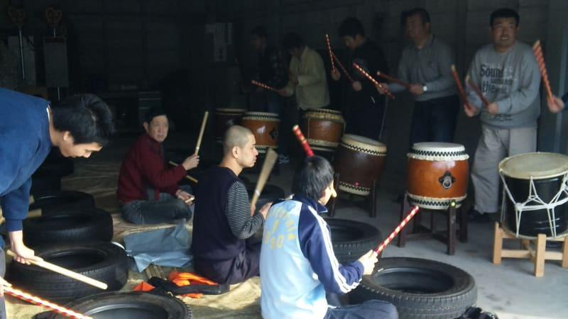 ひまわり太鼓 初練習