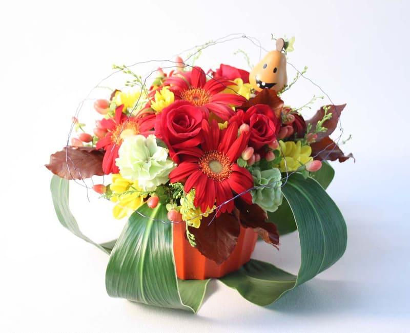 10月のマンスリー生花はハロウィーン♪