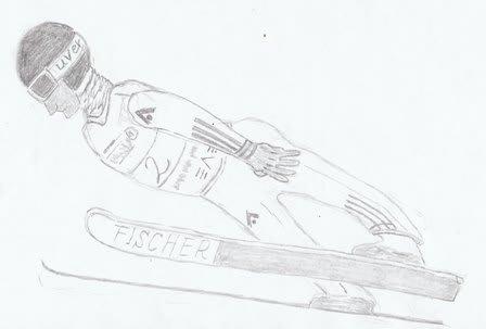 1月4日のイラストは「スキー・ジャンプ」 このブログ全体&トップ 『イラ... 1月4日のイラス