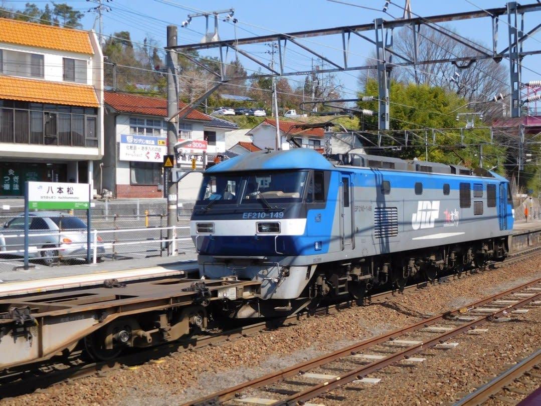 八本松駅にて - わくわくグランディ鉄道ランド