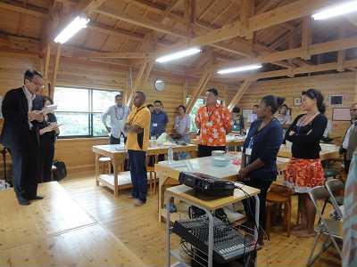 南太平洋から、JICA研修員が雪浦を訪問しました。