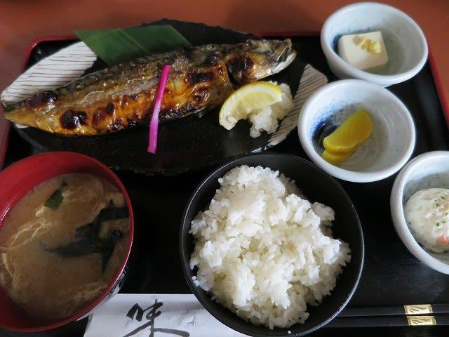鯖の一枚焼定食