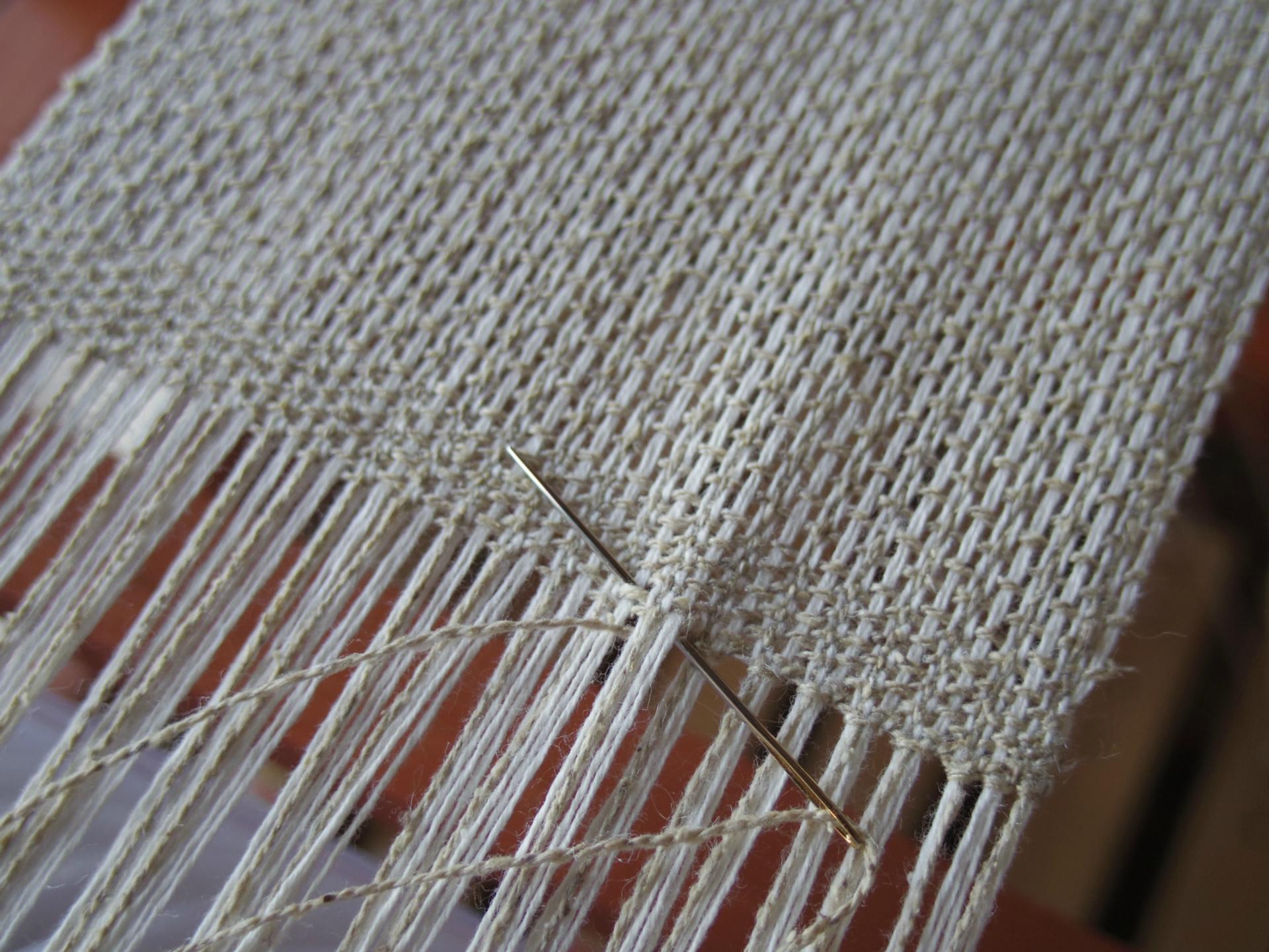 おりひめ手織機の織り方 3 - イ...