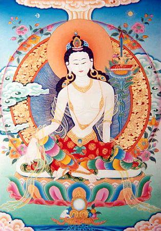 「白い仏身の文殊菩薩の加持を受ける」 - 宮地神仙道