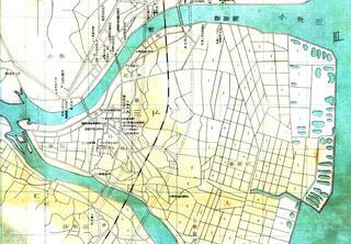 昭和17年の岩国市街地図より川下地区を拡大