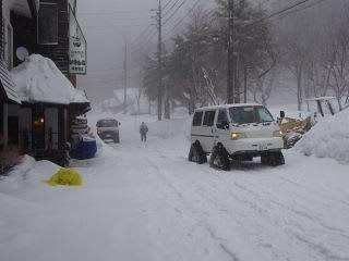 スキー場通路