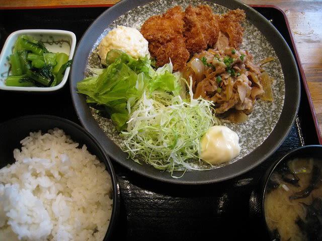 日替わりランチ(豚肉の生姜焼き、チキンカツ)
