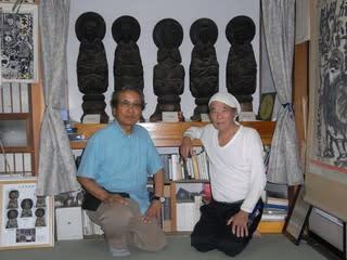 運良く、いや木喰上人のお導きか? 生家を訪れると子孫の伊藤勇先生にお会...  青鬼と歩こうよ