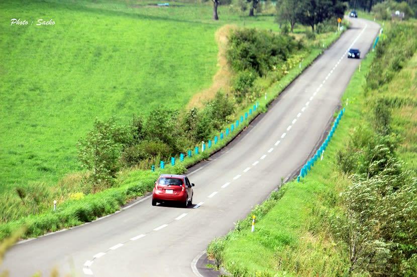 ナイタイ高原牧場 広大な中で ... : 車 自転車 時間差 : 自転車の