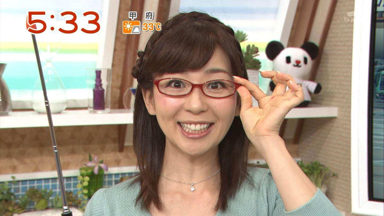 眼鏡女子な松尾由美子
