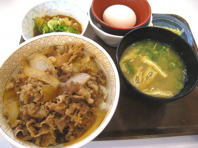 おろしポン酢牛丼玉子セット