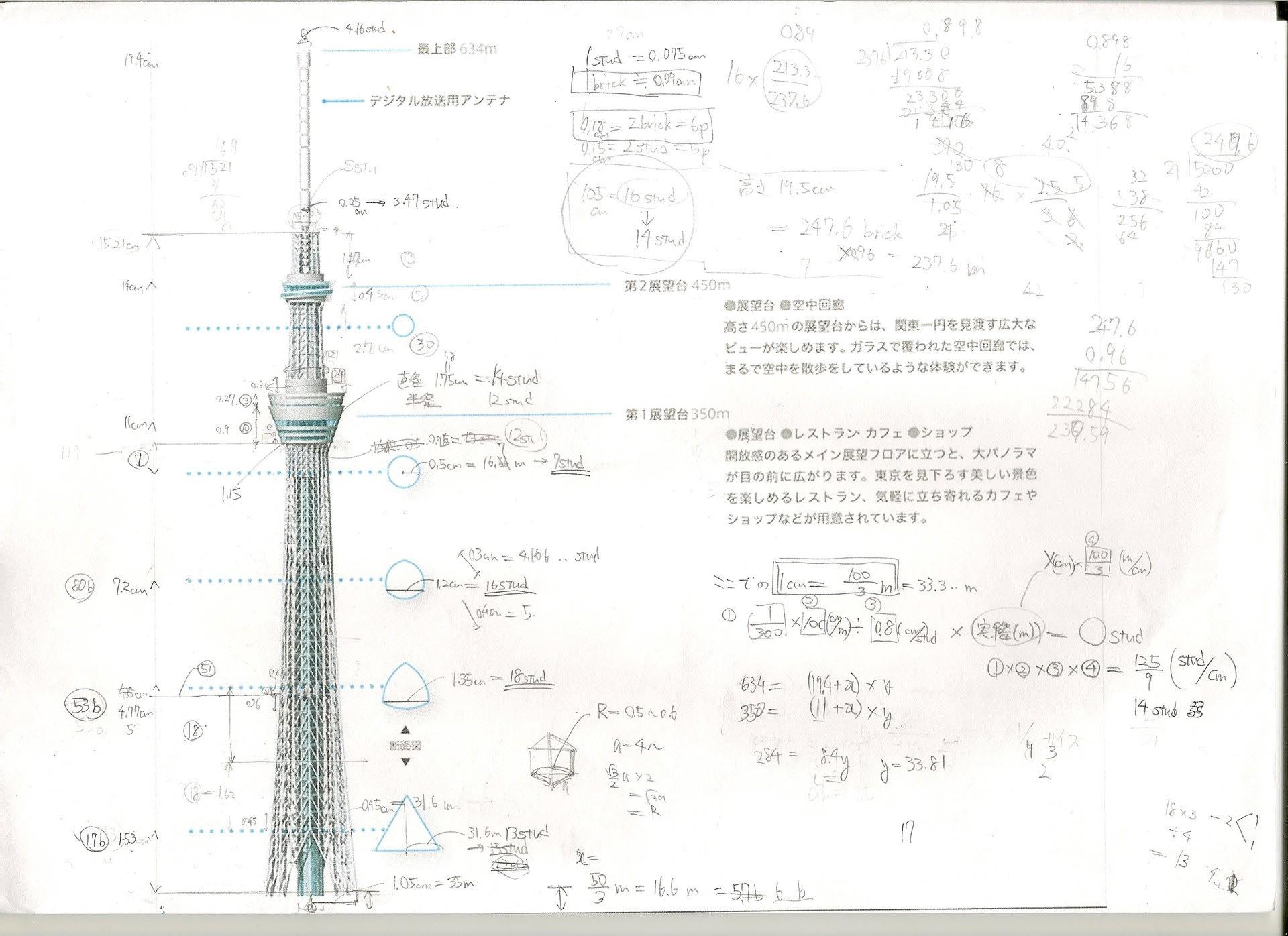 ProjectMUSASHI 【レゴで東京スカイ ... : メートル計算 : すべての講義