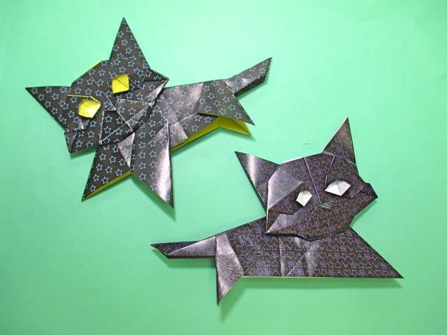 すべての折り紙 折り紙トナカイの作り方 : ハロウィン折り紙クロネコの ...