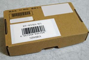 RT-WV0Aのパッケージは相変わらずシンプル