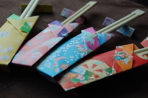 すべての折り紙 お正月 折り紙 折り方 : 箸袋 折り紙 美味しいレシピ ...