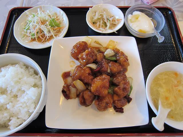 鶏の辛子炒め定食